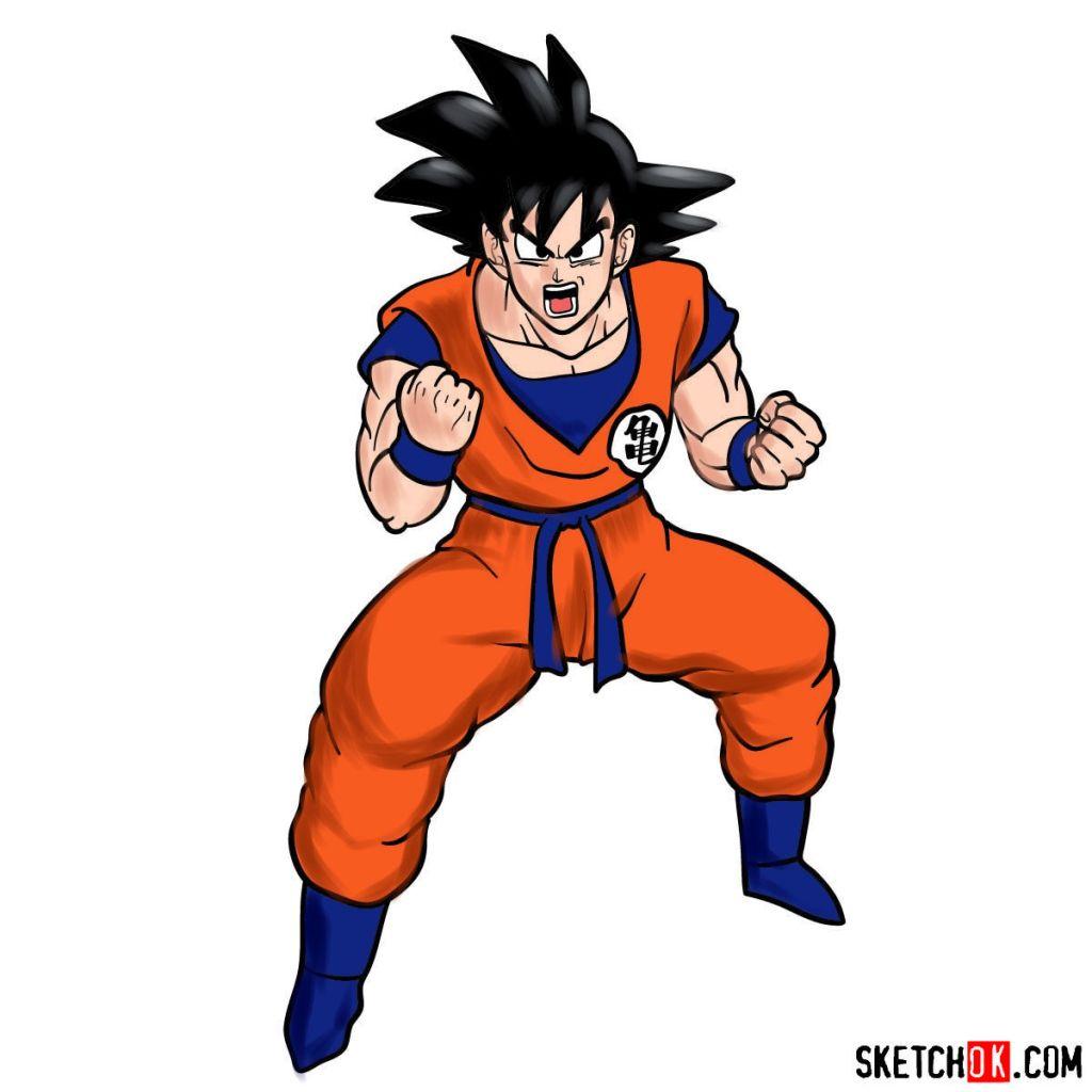 How to draw Goku | Dragon Ball anime