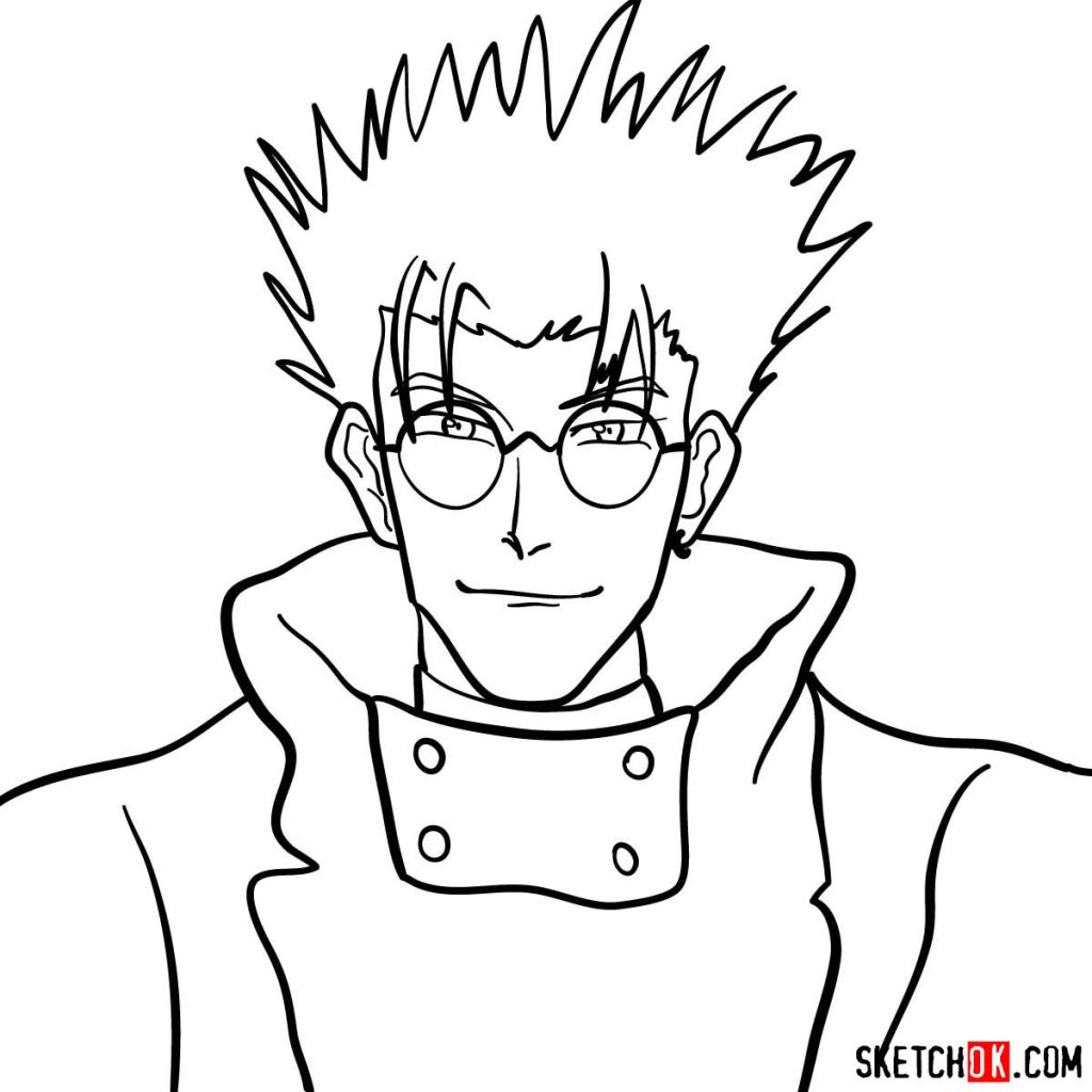 How to draw Vash's face | Trigun