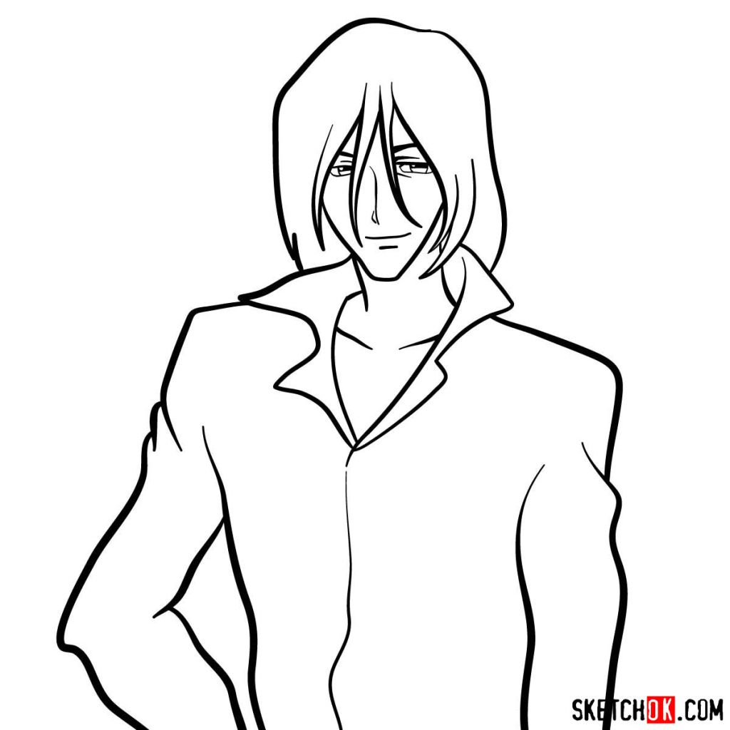 How to draw Gren from Cowboy Bebop anime