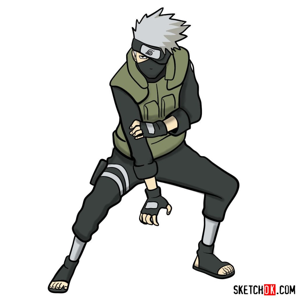 How to draw Kakashi Hatake from Naruto anime