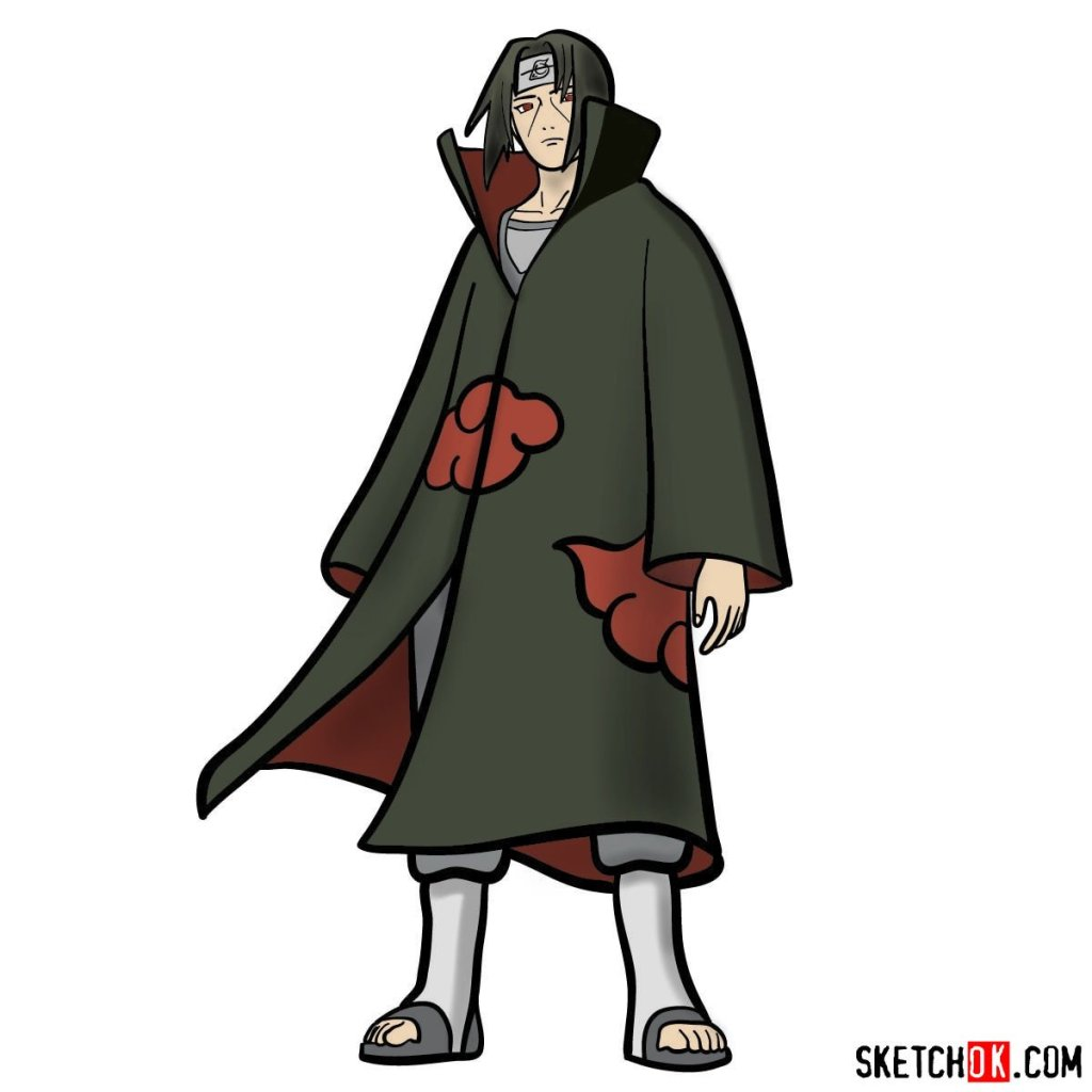 How to draw Itachi Uchiha (Naruto)