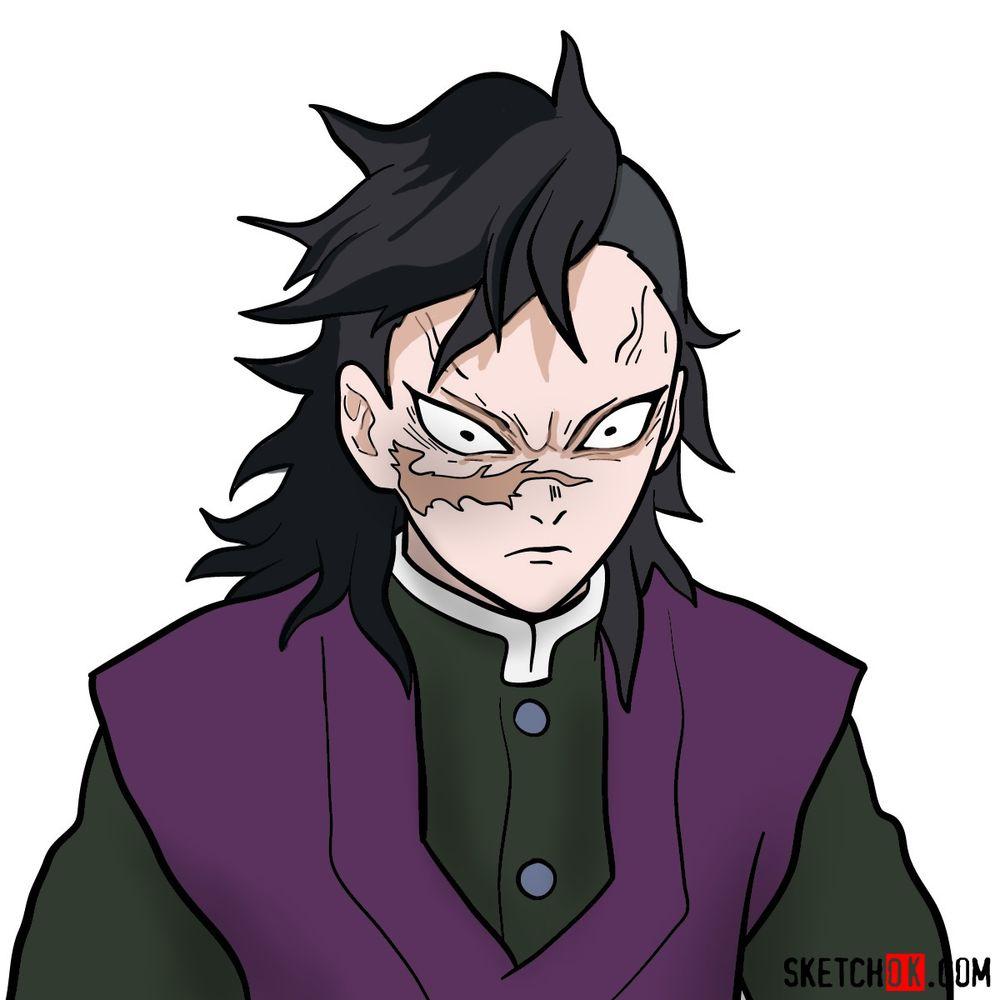How to draw Genya Shinazugawa | Demon Slayer