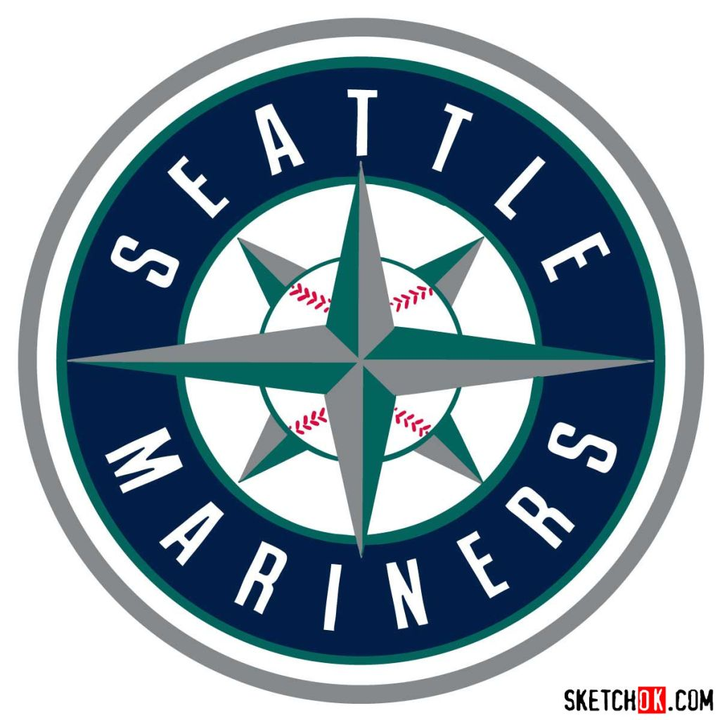 How to draw Seattle Mariners logo | MLB logos