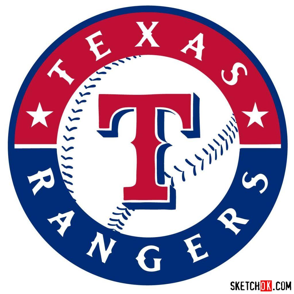 How to draw Texas Rangers logo | MLB logos