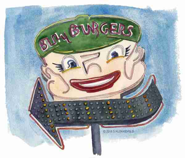 Neon Sign for Billy Burger Drive-In