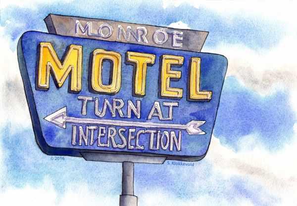 Monroe Motel Sign