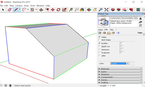 Drawing basics on SketchUp – Edges and Faces