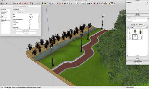 Always Use Proxy Components in SketchUp for Faster Rendering