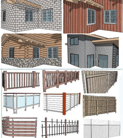 Instant Fence and Railing from Vali Architects in SketchUp
