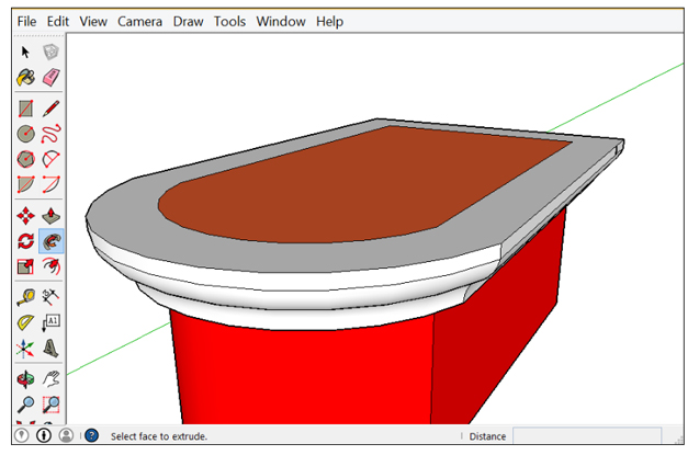Projecting with SketchUp Follow Me Tool
