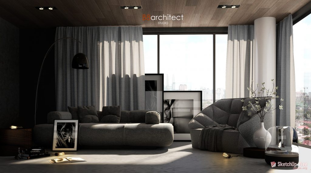 746 Interior Scene 1 By B8architect Sketchup Model Free
