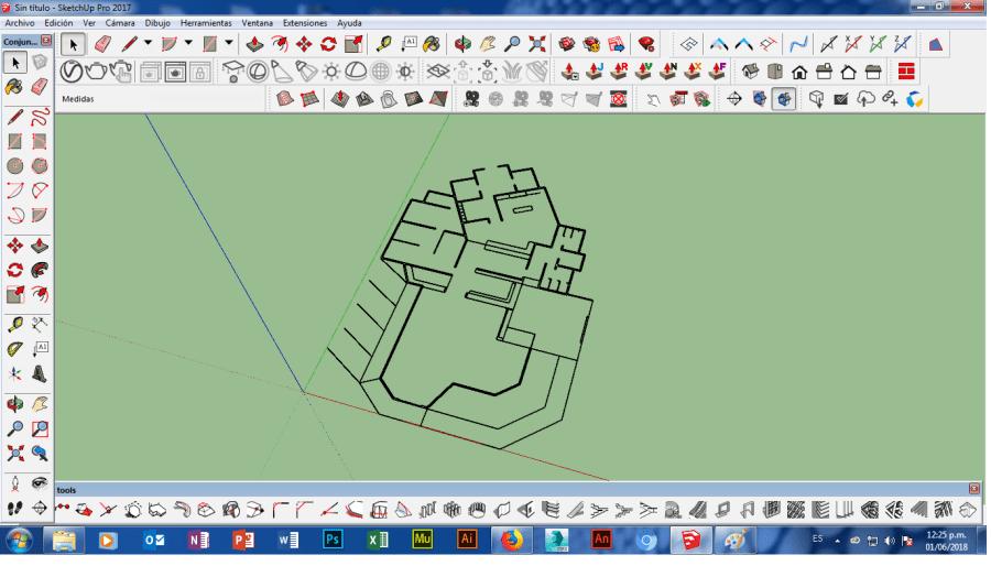 solucion de impotar un dwg a sketchup en computadora windows