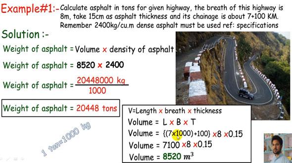 Asphalt Calculation Formula  Asphalt Tonnage Calculation
