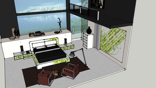 Sketchup Components 3D Warehouse  Bedroom  Sketchup 3D