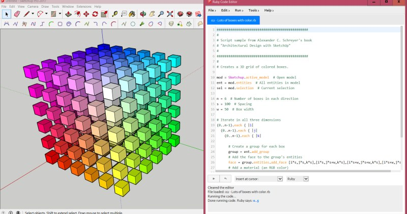 SketchUp Ruby Code Editor Updated to 4.0