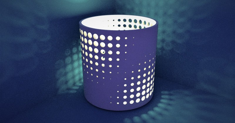 Patterned Panel + Bending Extension = Cool Candle Holder