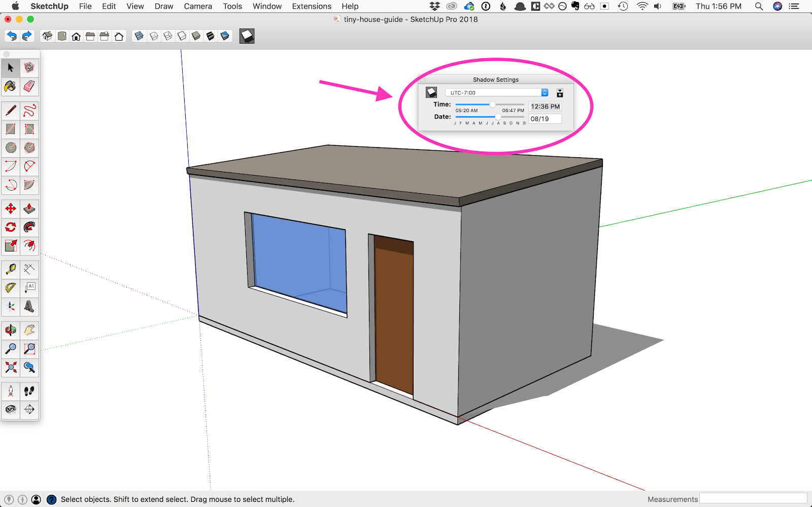 medium resolution of sketchup s shadows feature