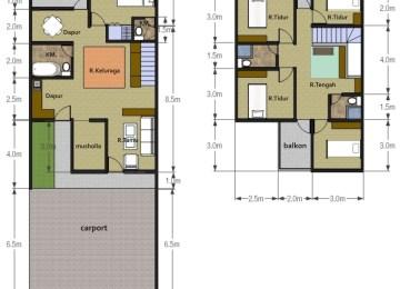 Desain Rumah Kontrakan Petak Cat Rumah Minimalis
