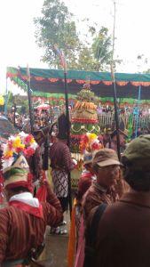 Suasana acara bersih desa