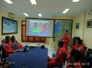 Leader Letkol Pnb. Sri Raharjo, kembali memimpin members the Jupiter, Kamis 13/10 melaksanakan gladi bersih pertama, bertempat di area Nusa dua Bali