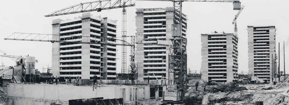 1969, 1767 logements, 75019 André N. Coquet / Henri Auffret / D. Auger, architecte © Archives Paris-Habitat-OPH