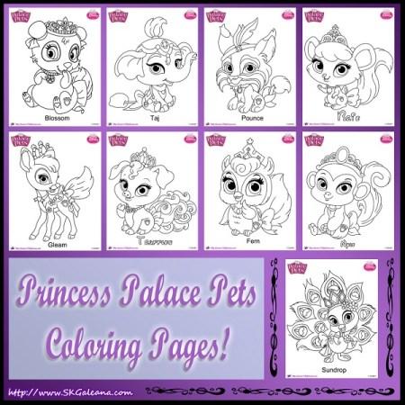 Princess Palace Pets Coloring Pages skgaleana