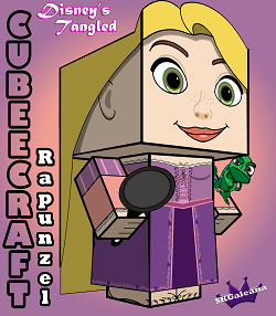 Tangled Repunzel 3D small