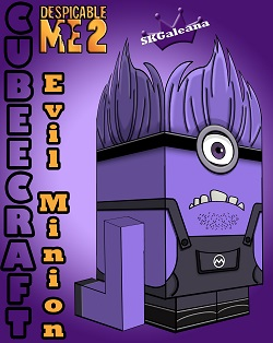 Despicable Me Purple Minion 3D small
