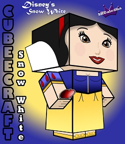 Snow White 3D small cubeecraft by SKGaleana