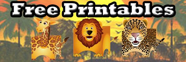 Free Printables Lion Leopards Uhu