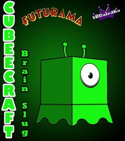 Futurama Brain Slug 3D small