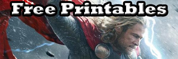 Free Thor Printables SKGaleana
