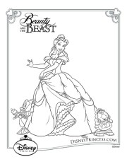 Disney's Beauty and the Beast Printables, Coloring Pages