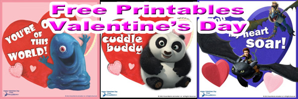 Dreamworks Valentines Day Printables