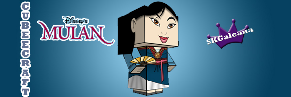Mulan final dress Cubeecraft by SKGaleana