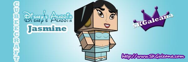 Disney Jasmine Cubeecraft SKGaleana