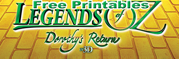 Legend of Oz Free Printables