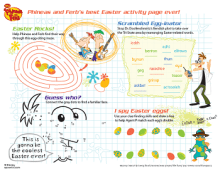 Phineas and Ferb Easter placemat