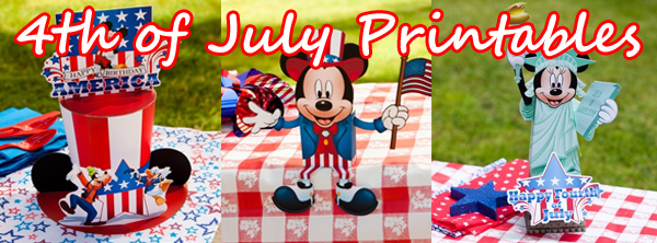 Disney 4th of July printables