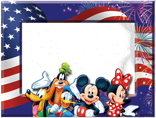 Border Design Disney Character : Th of july disney printables activities and party