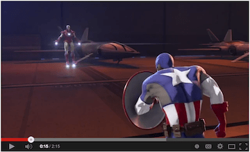 Marvels Iron Man and Captain America Heroes United