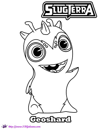 Slugterra geoshard printable coloring page and wallpaper for Slugterra coloring pages burpy