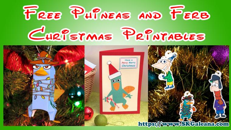 Free Phineas and Ferb Christmas Printables SKGaleana