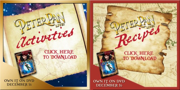 Peter Pan Live Activities and recipe printables copy