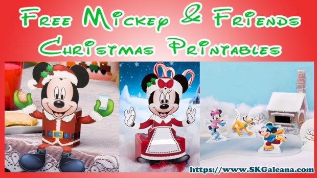 free Mickey and friends Christmas printables