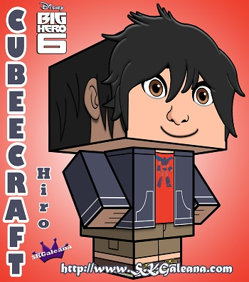 Hiro Big Hero 6 Cubeecraft by SKGaleana 3D