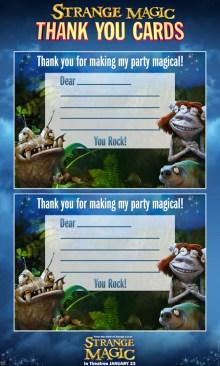 Strange Magic Thank You Cards SKGaleana