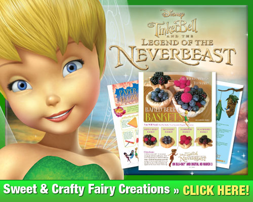 Tinkerbell Legend of the never beast crafts