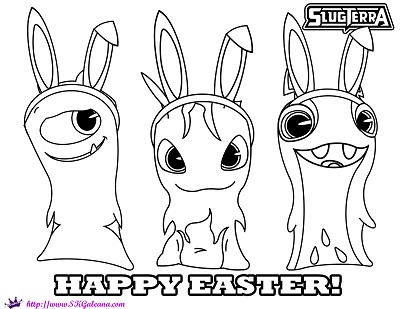 Happy Easter Slugterra Coloring Page by SKGaleana copy