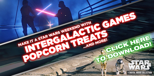 Star wars Printables SKGaleana Intergalactic Games and Popcorn Treats